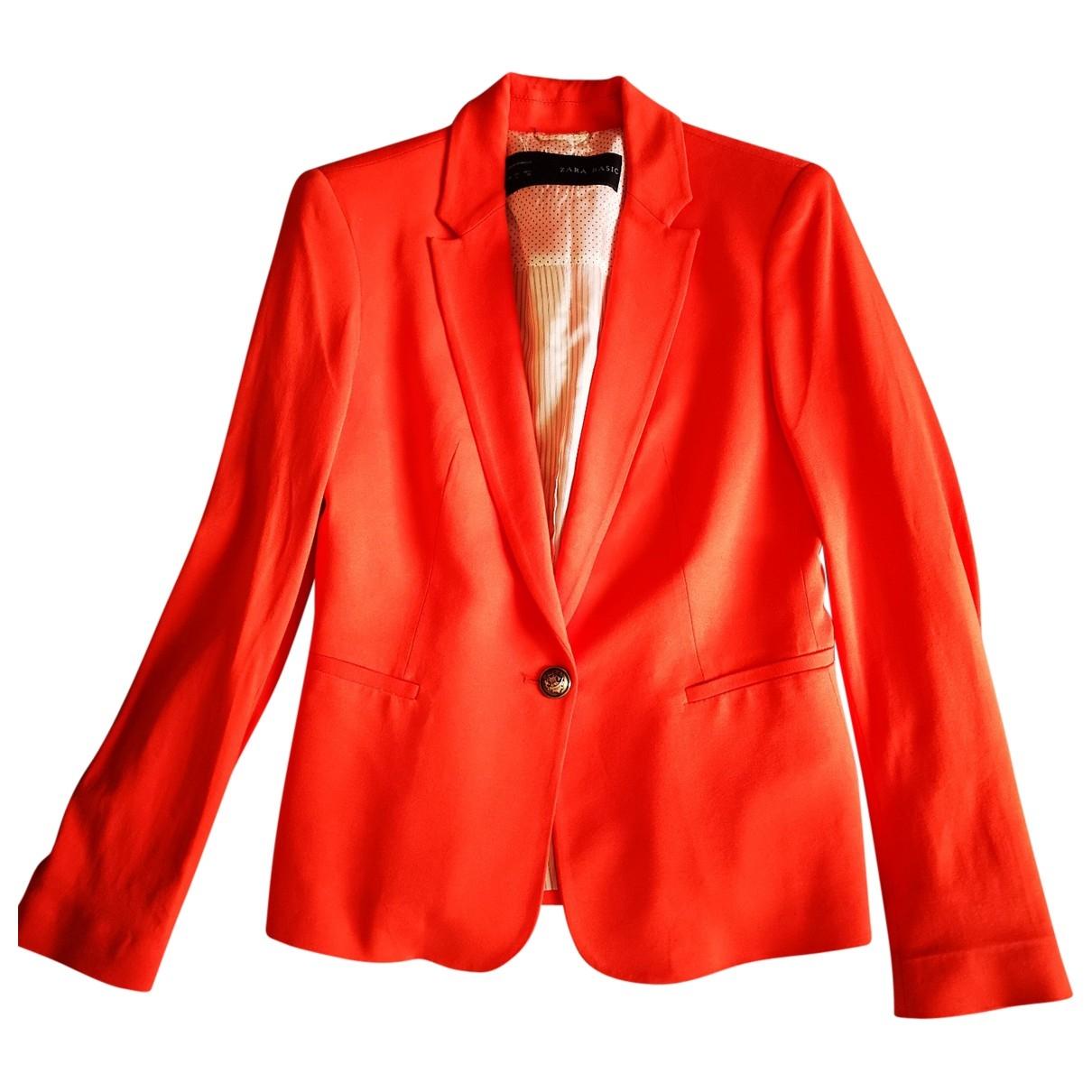 Zara \N Jacke in  Orange Baumwolle