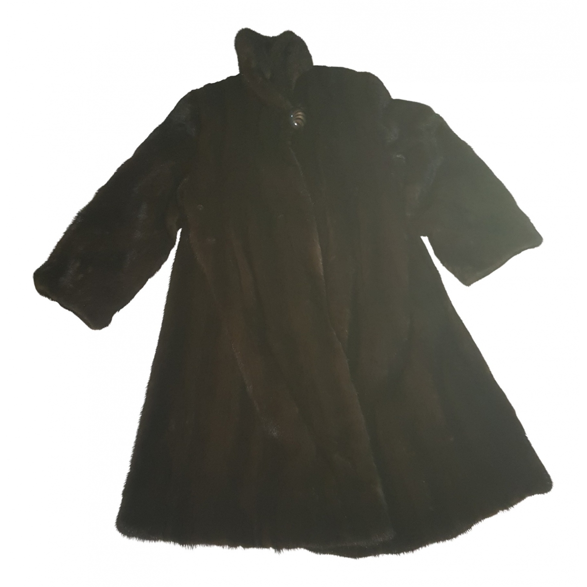 Non Signé / Unsigned \N Brown Mink coat for Women One Size FR