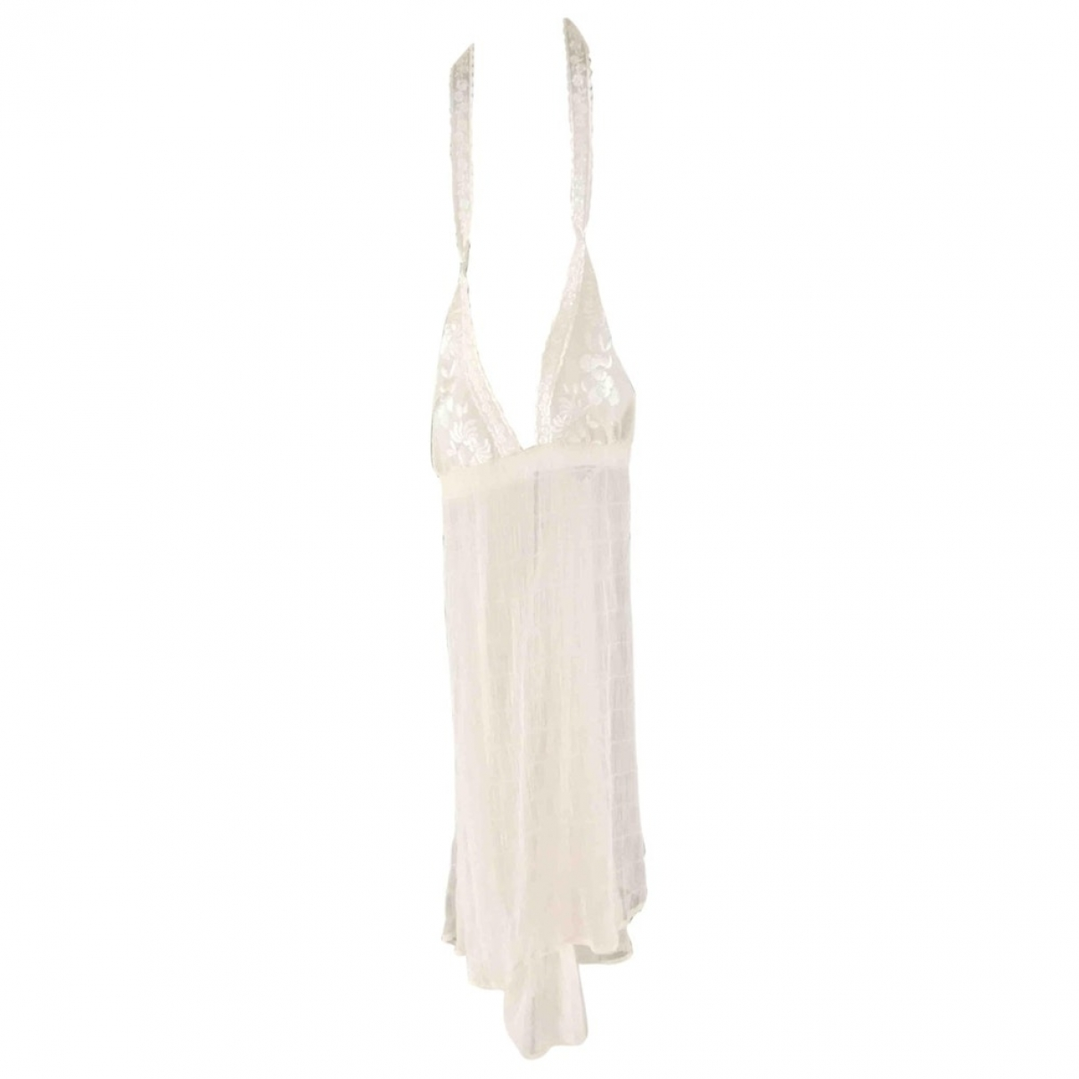 Dior \N Ecru Silk  top for Women 44 FR
