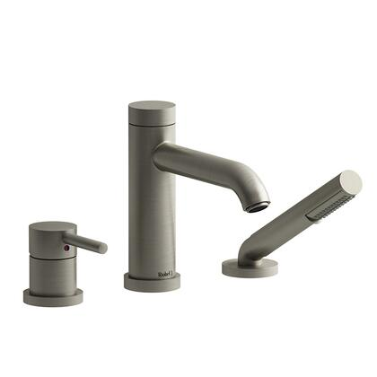 CS CS10BN-EX 3-Piece Deck Mount Tub Filler with Hand Shower Expansion Pex  in Brushed