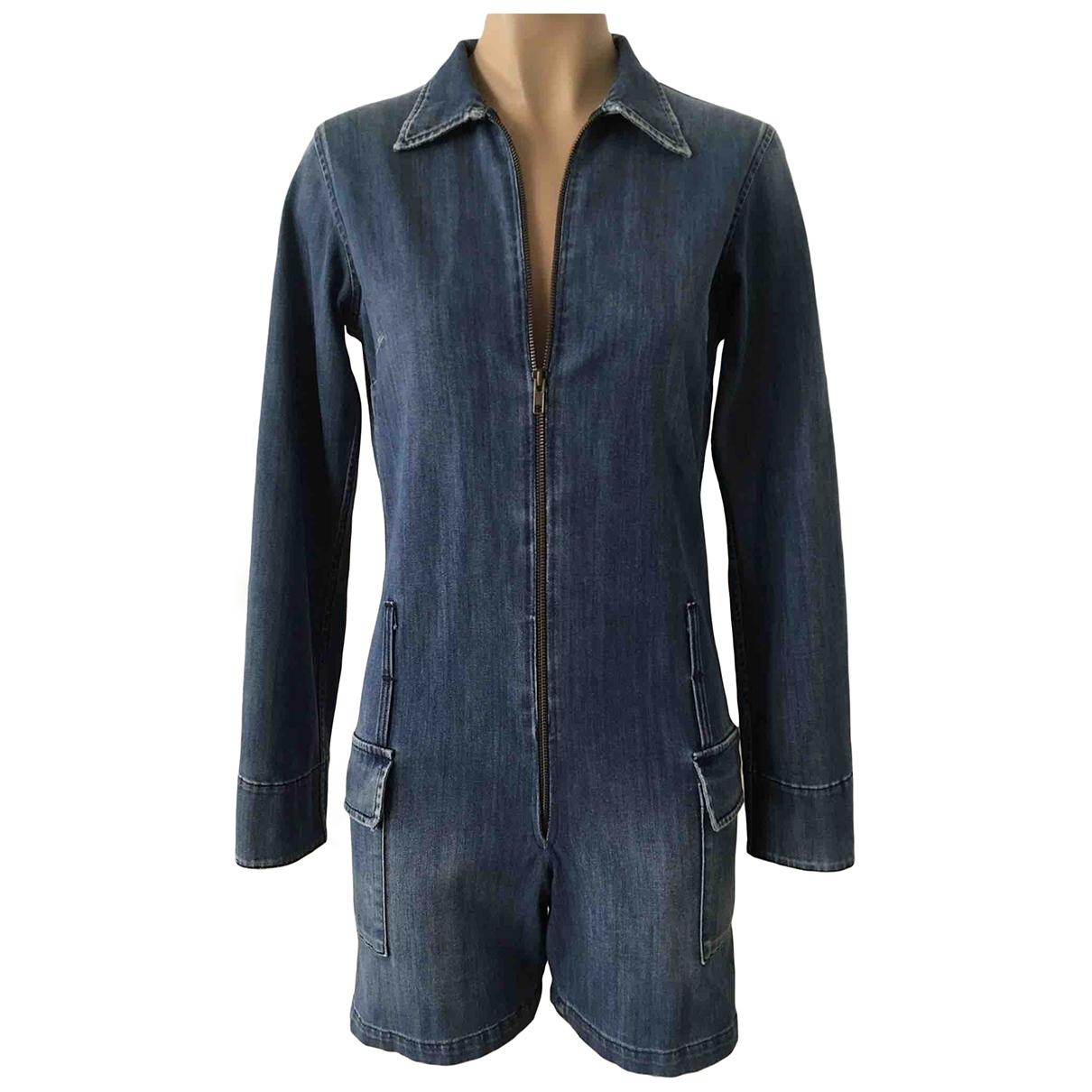 Notify \N Jumpsuit in  Blau Baumwolle