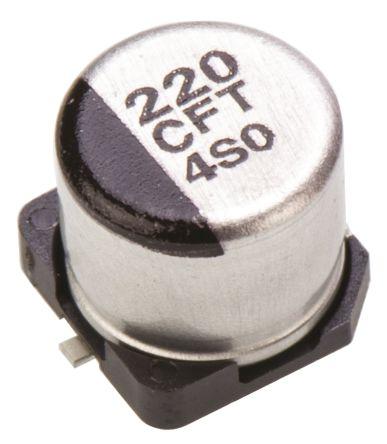Panasonic 220μF Electrolytic Capacitor 16V dc, Surface Mount - EEEFT1C221AP (10)
