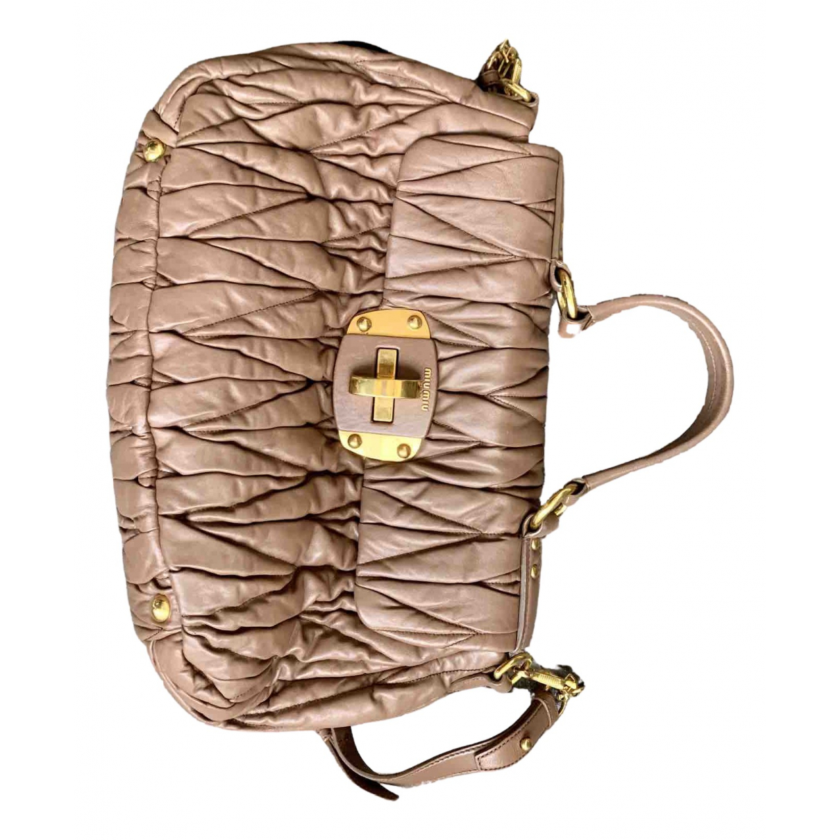 Miu Miu Matelassé Camel Leather handbag for Women \N
