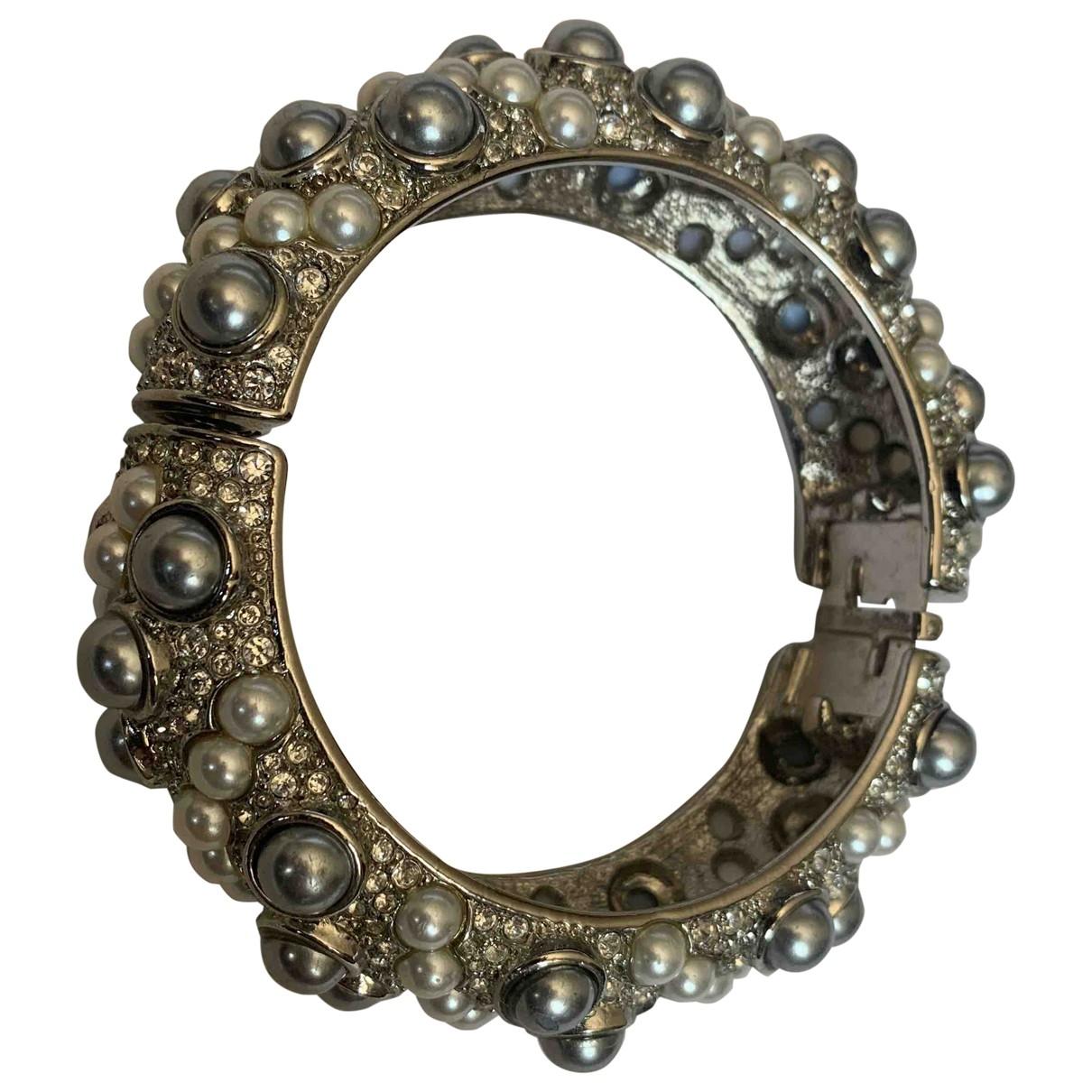 Kenneth Jay Lane - Bracelet   pour femme en cristal - argente