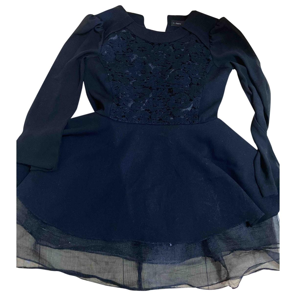 Non Signe / Unsigned \N Kleid in  Schwarz Seide