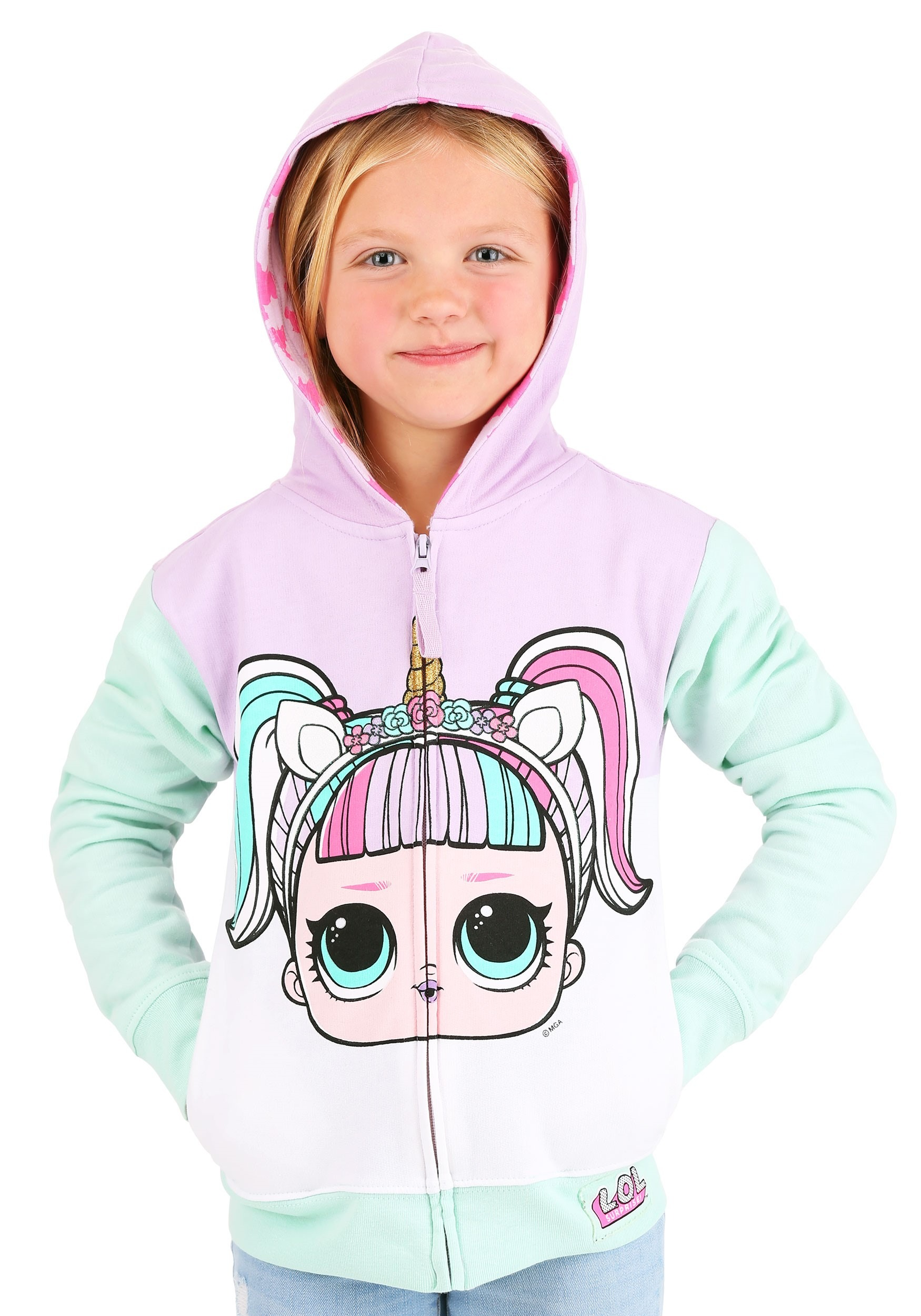 LOL Surprise Unicorn Hoodie for Girls