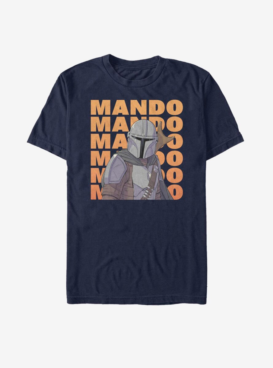 Star Wars The Mandalorian Stack Text T-Shirt