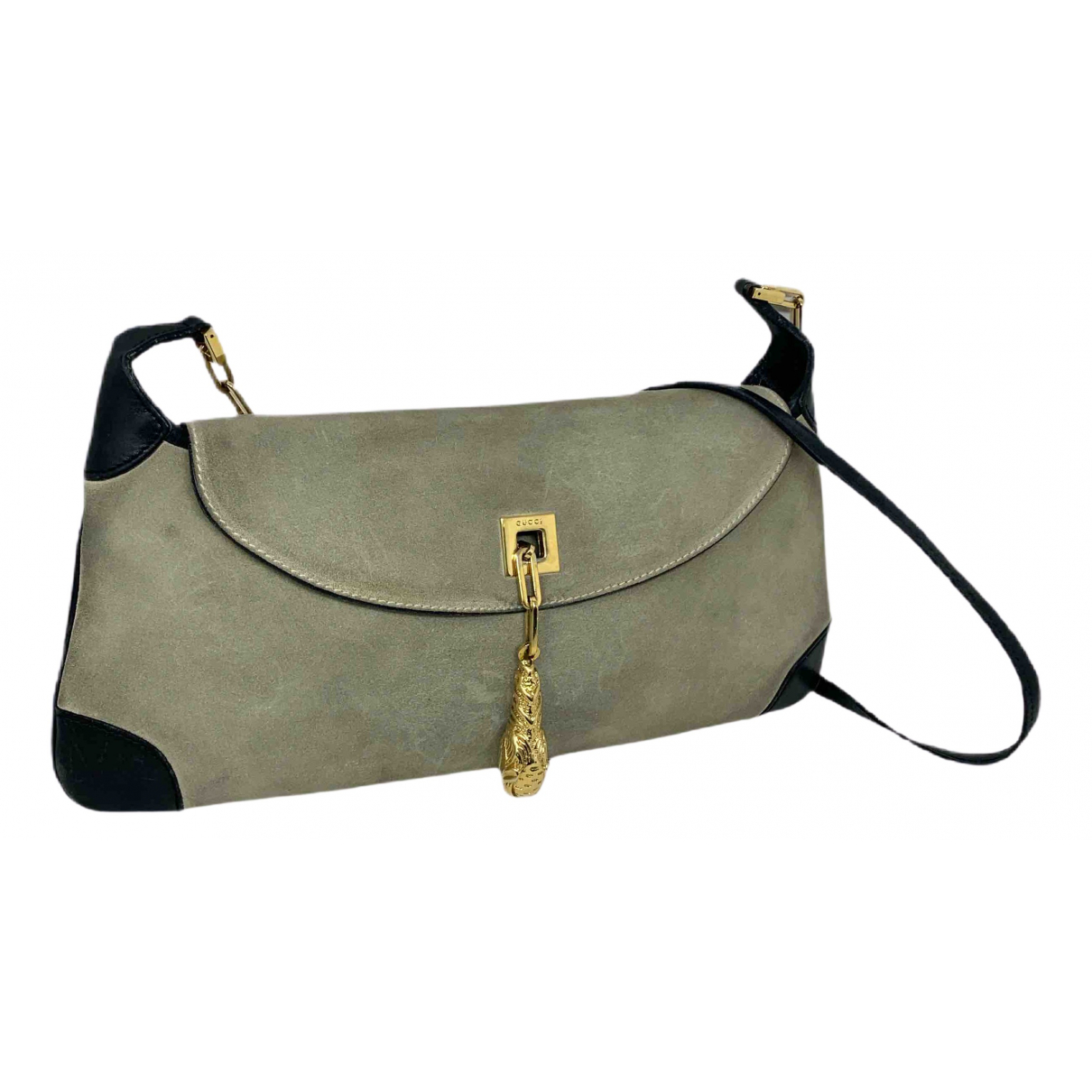 Gucci \N Clutch in  Beige Leder