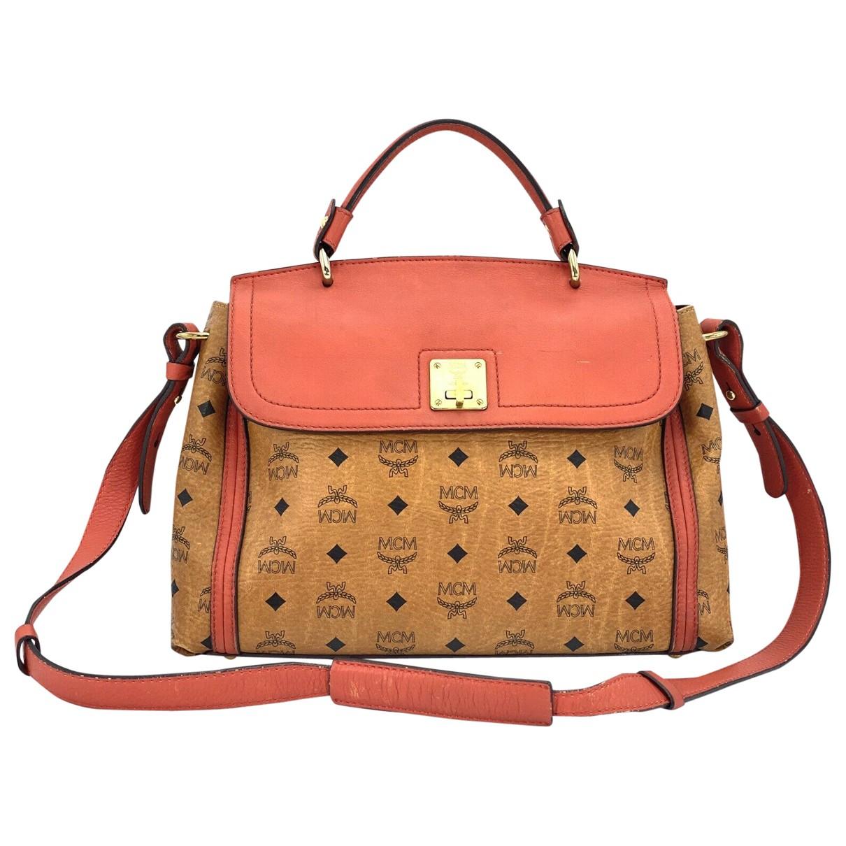 Mcm \N Beige Leather handbag for Women \N