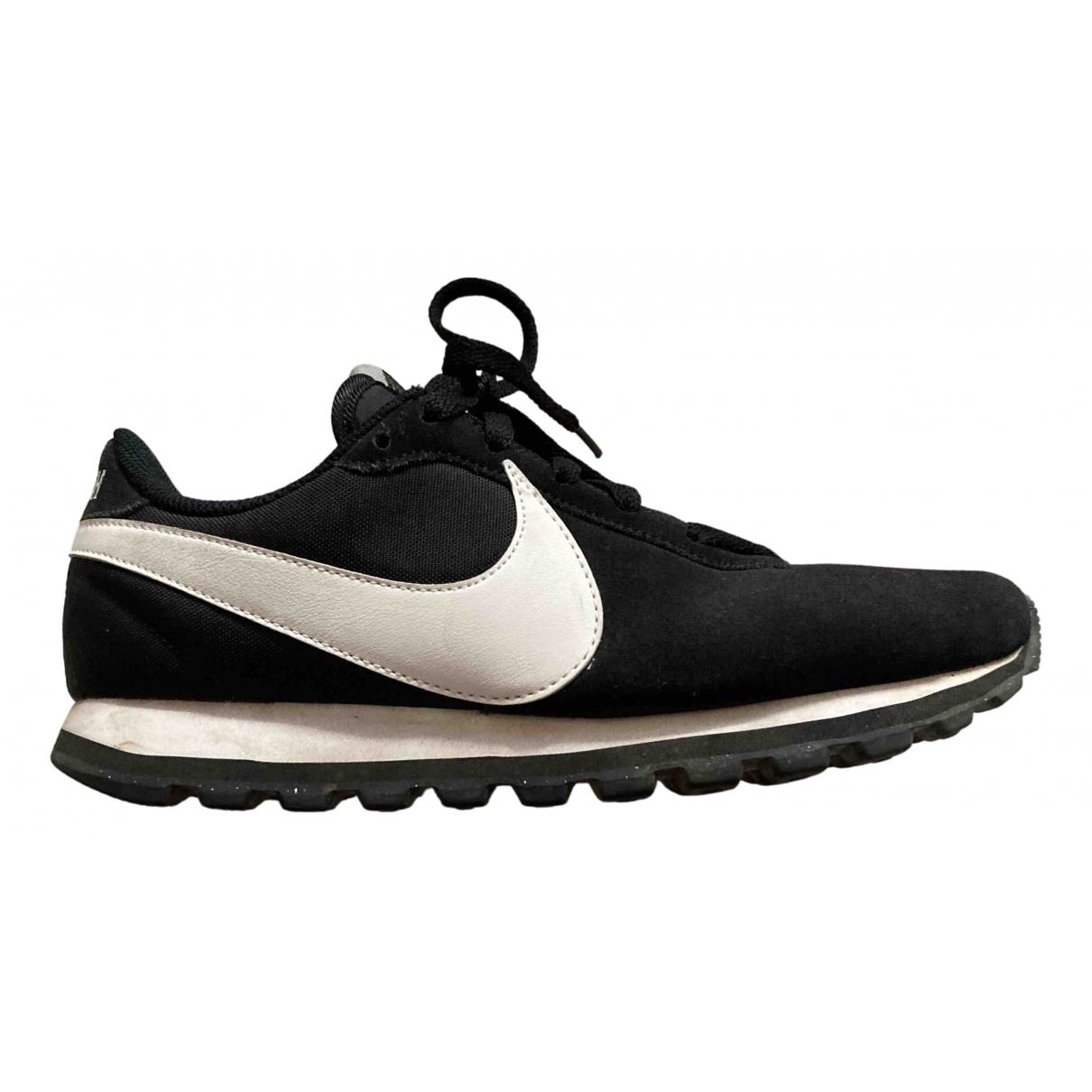 Nike \N Sneakers in  Schwarz Veloursleder