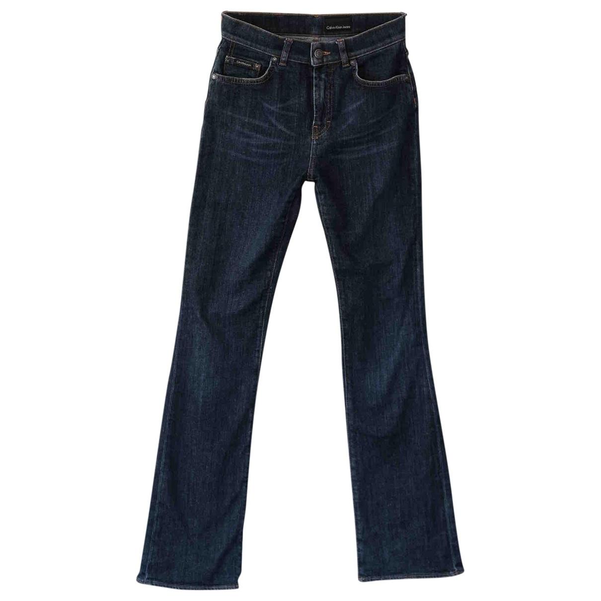Calvin Klein \N Blue Cotton - elasthane Jeans for Women 27 US