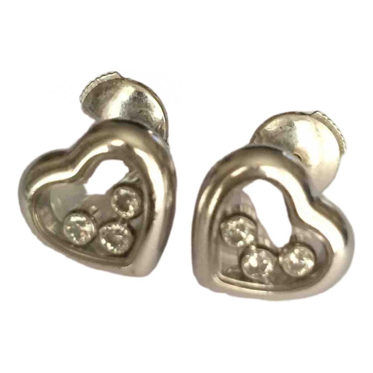 Chopard - Boucles doreilles Happy Diamonds pour femme en or blanc
