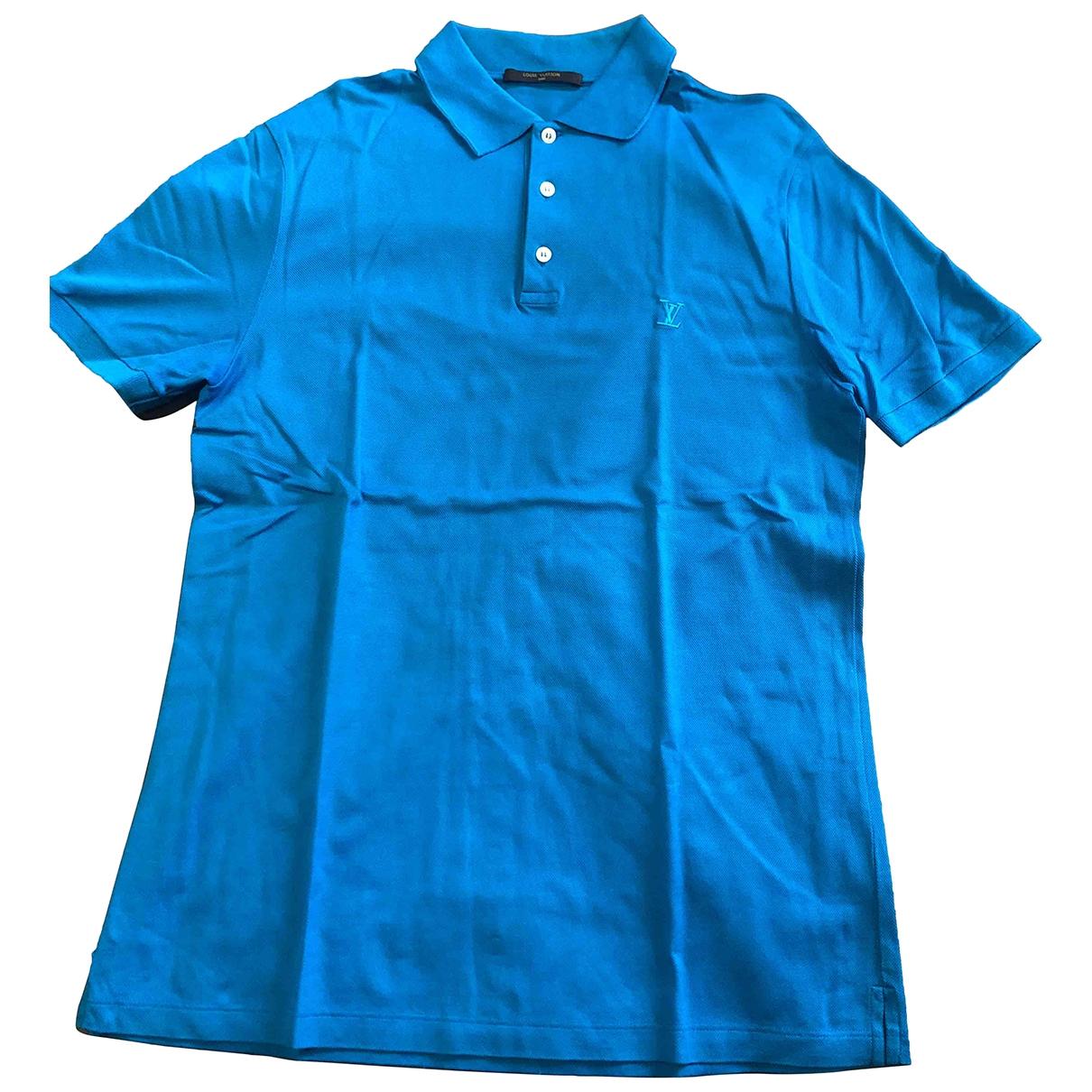 Louis Vuitton \N Poloshirts in  Blau Baumwolle