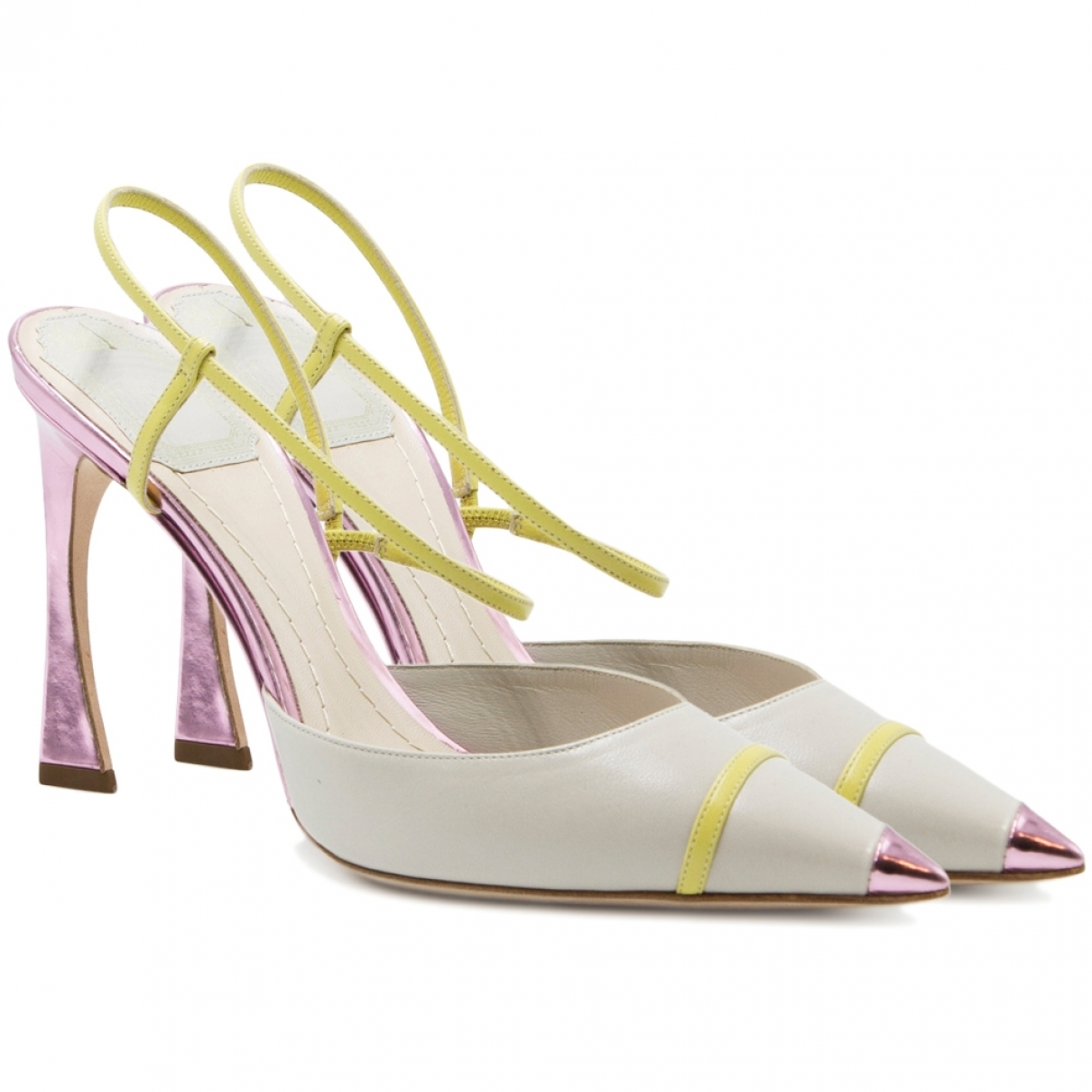 Dior \N White Leather Sandals for Women 37.5 EU