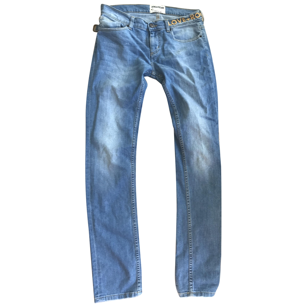 Zadig & Voltaire \N Blue Cotton - elasthane Jeans for Women 28 US
