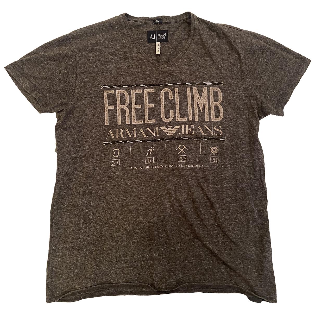 Armani Jeans N Grey Cotton T-shirts for Men XL International