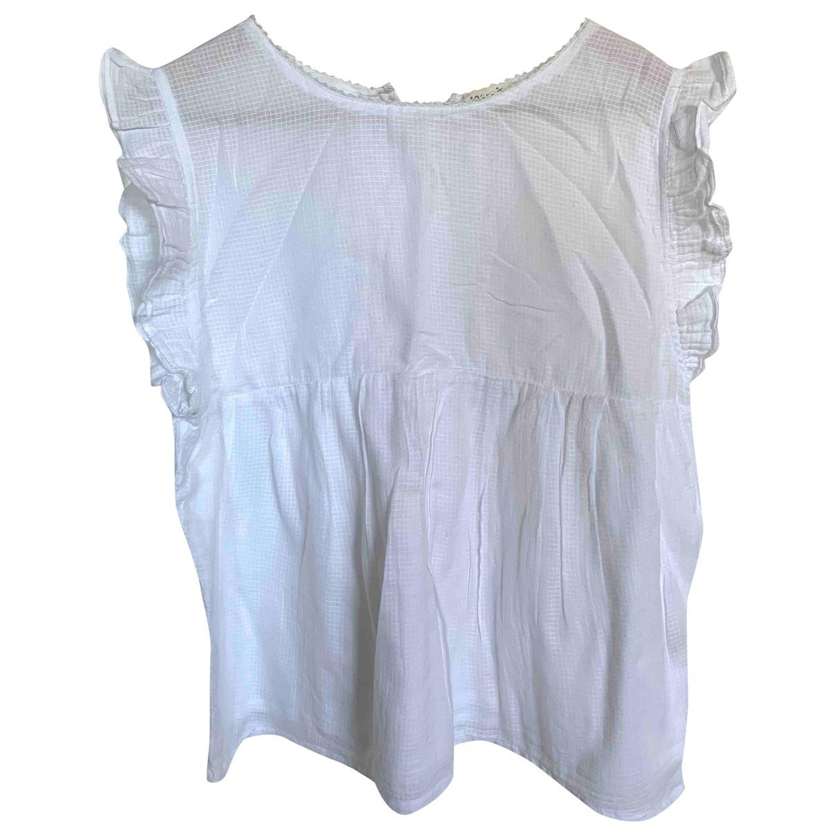 Soeur \N White Cotton  top for Women 38 FR