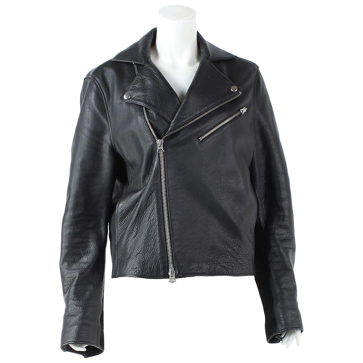 Acne Studios \N Black Leather jacket for Women 48 FR
