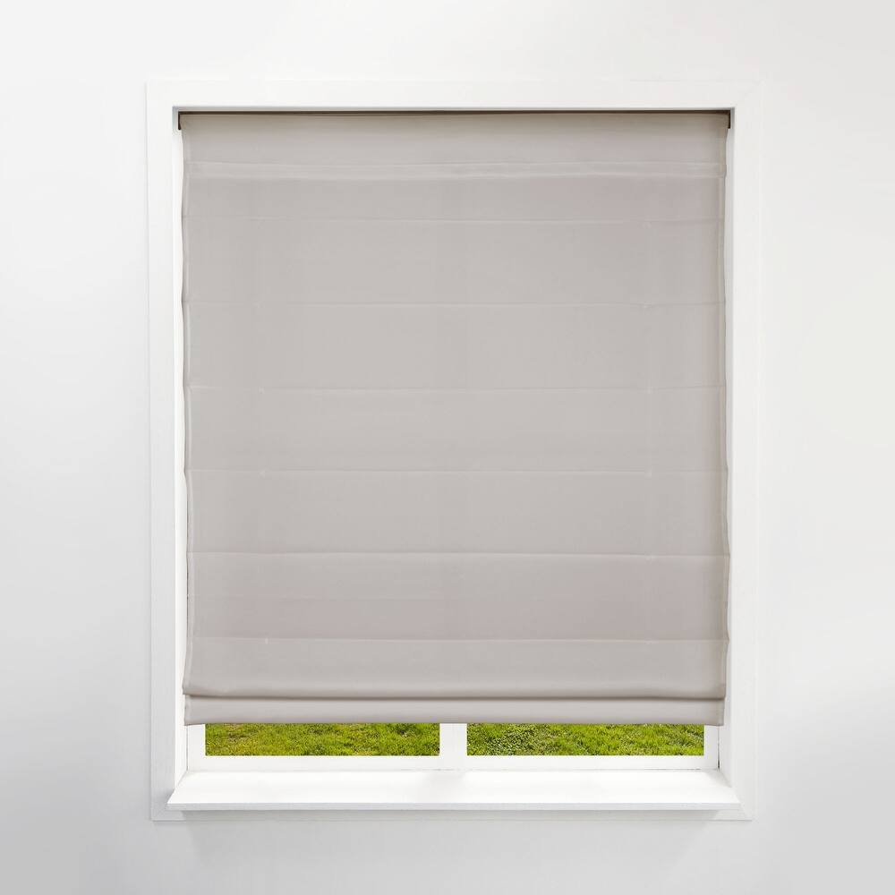 Arlo Blinds Pebble Beach Light Filtering Cordless Lift Fabric Roman Shades (33.5