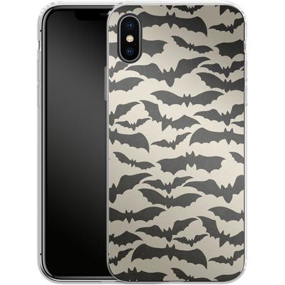 Apple iPhone X Silikon Handyhuelle - Bat Pattern von caseable Designs