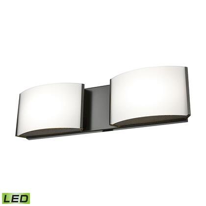 BVL912-10-45 2 Light LED Vanity in Oiled Bronze and Opal