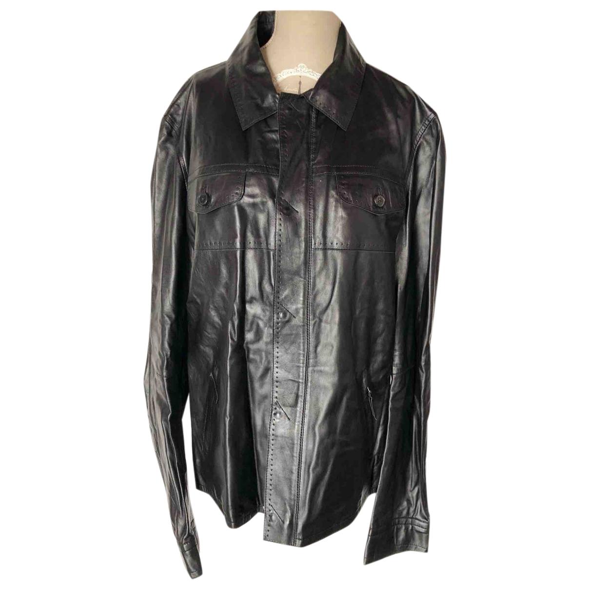 Costume National - Vestes.Blousons   pour homme en cuir - noir