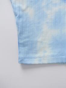 Tie Dye Print Crop Tank Top