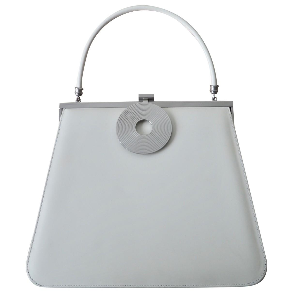 Dorateymur \N White Leather handbag for Women \N