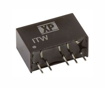 XP Power ITW 1W Isolated DC-DC Converter Through Hole, Voltage in 36 ? 75 V dc, Voltage out 12V dc