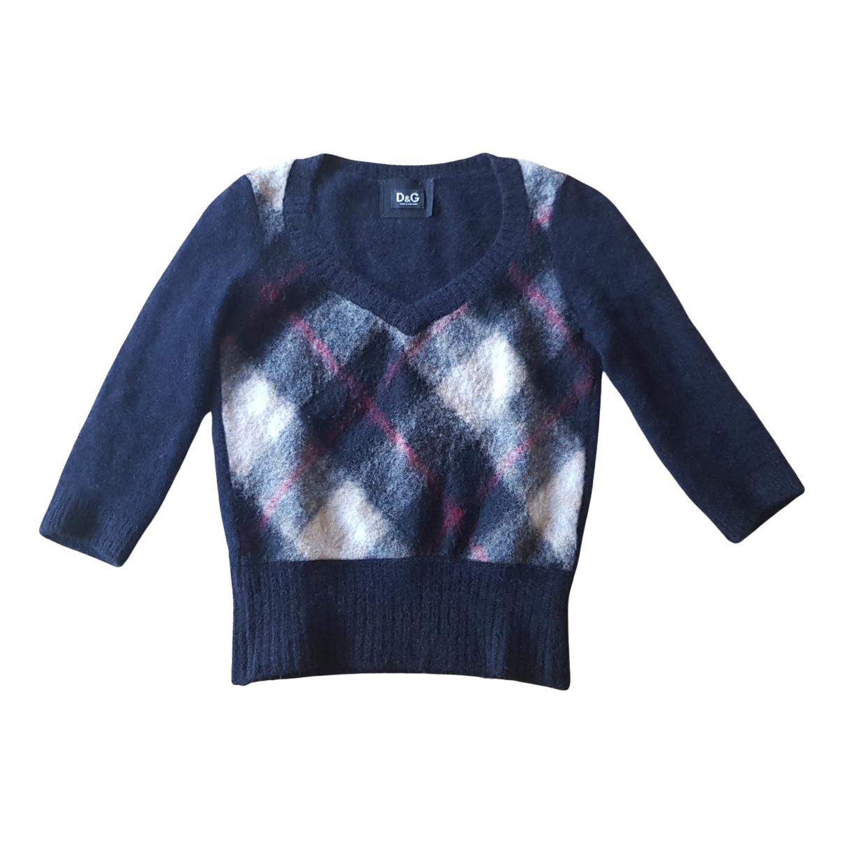 D&g - Pull   pour femme en laine - noir