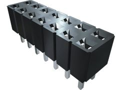 Samtec , SLW 2.54mm Pitch 10 Way 2 Row Vertical PCB Socket, Through Hole, Solder Termination