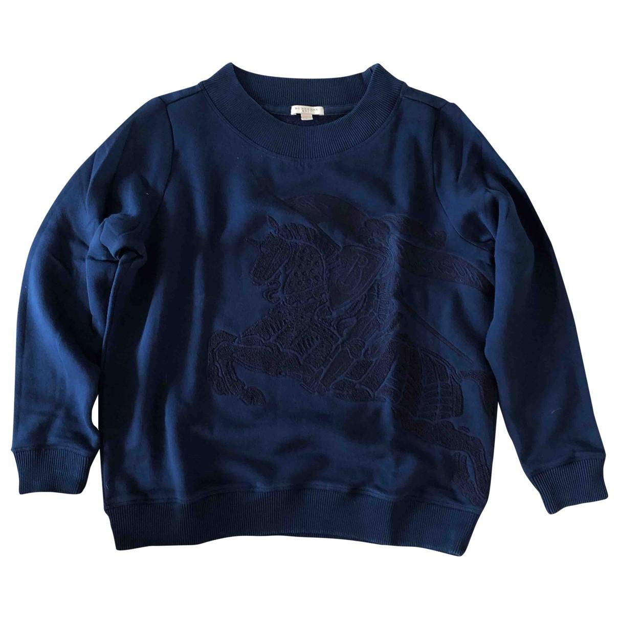 Burberry \N Pullover in  Blau Baumwolle