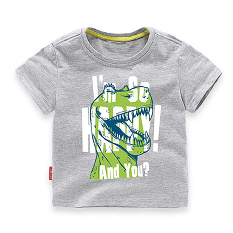 Graphic Kids Boys Printed Tops & T-shirts Toddler Birthday Clothes For 1Y-7Y