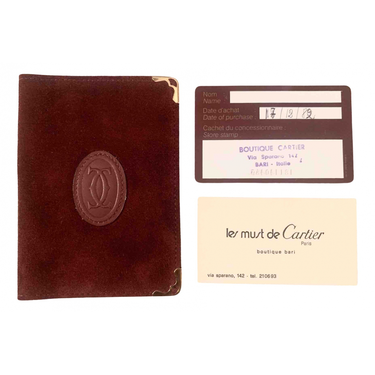 Tarjetero de Cuero Cartier
