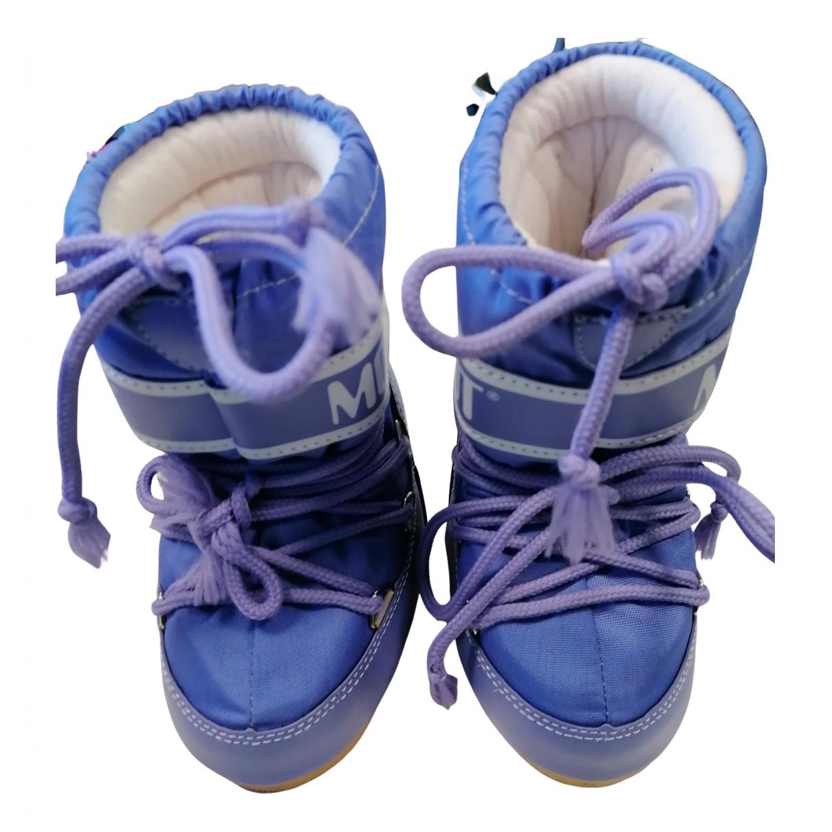 Moon Boot - Bottes.Bottines   pour enfant - violet