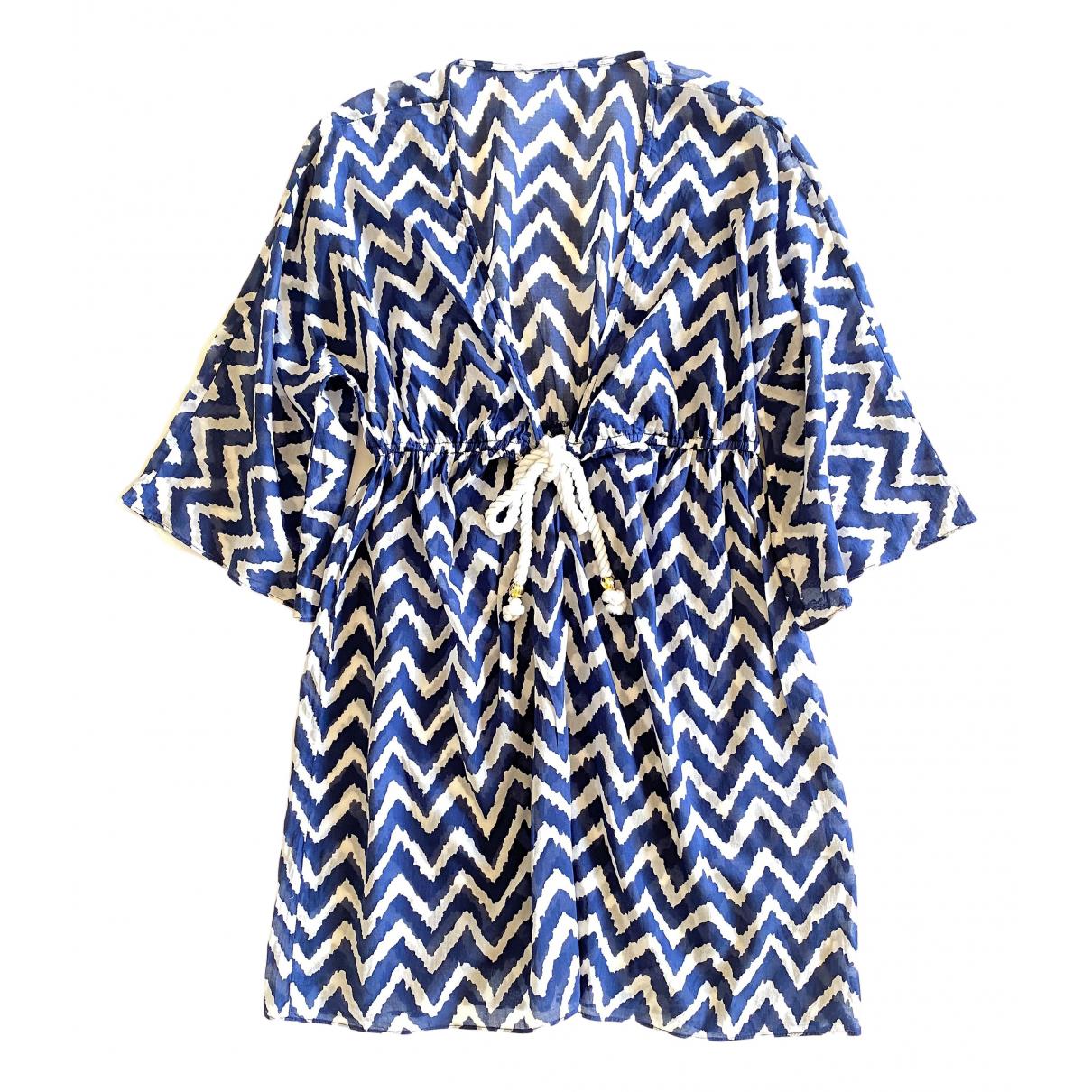 Milly \N Kleid in  Marine Baumwolle