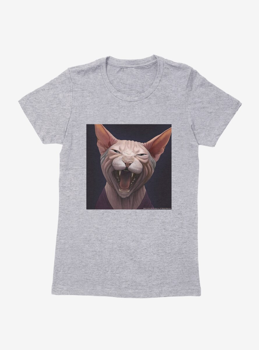 Star Trek The Next Generation Cats Picard Meow Womens T-Shirt