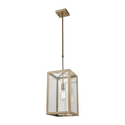 63081-1 Parameters 1-Light Chandelier in Satin Brass with Clear