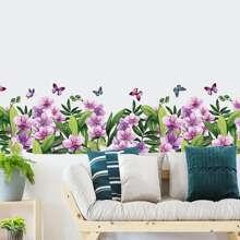 Wandmalerei mit Blumen Muster
