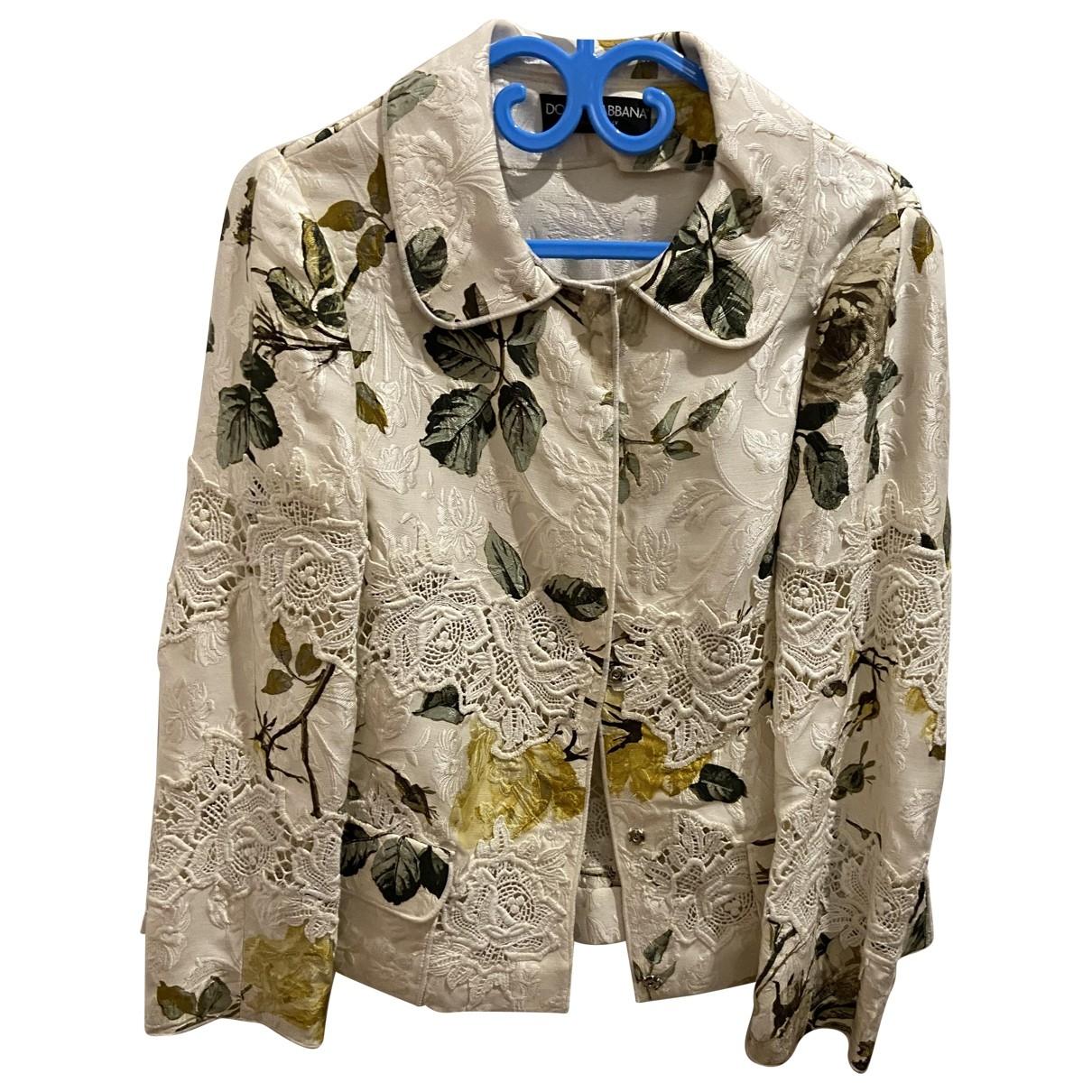 Dolce & Gabbana - Veste   pour femme en soie - ecru