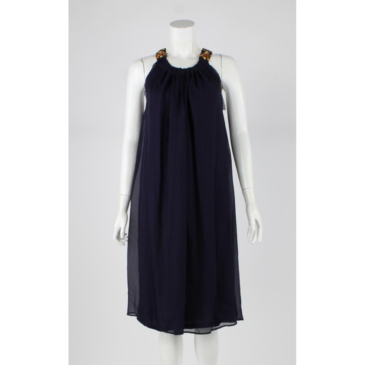 Prada N Navy Silk dress for Women M International