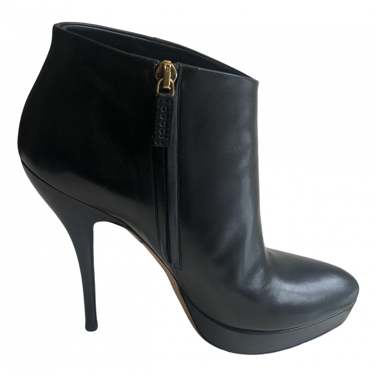 Gucci N Black Leather Ankle boots for Women 38 EU