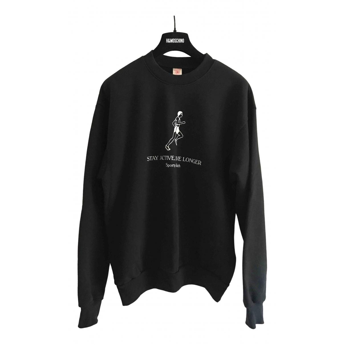 Sporty & Rich - Pull   pour femme en coton - noir