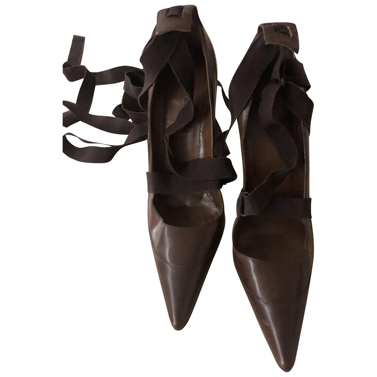 Gucci \N Brown Leather Heels for Women 39 IT