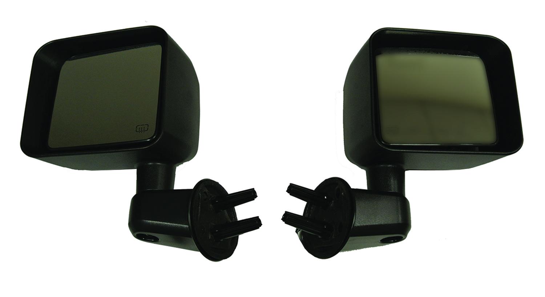 Bestop 51260-01 Black Mirror Replacement Set w/o Power Mirrors Jeep Wrangler 2007-2018