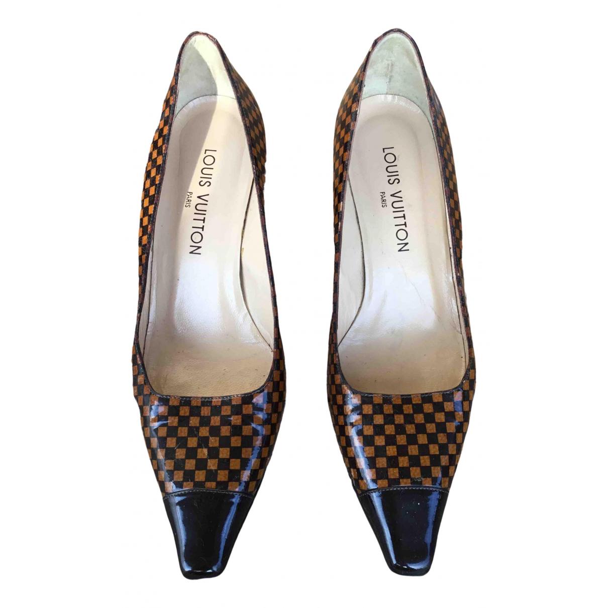 Louis Vuitton N Brown Cloth Heels for Women 38.5 EU