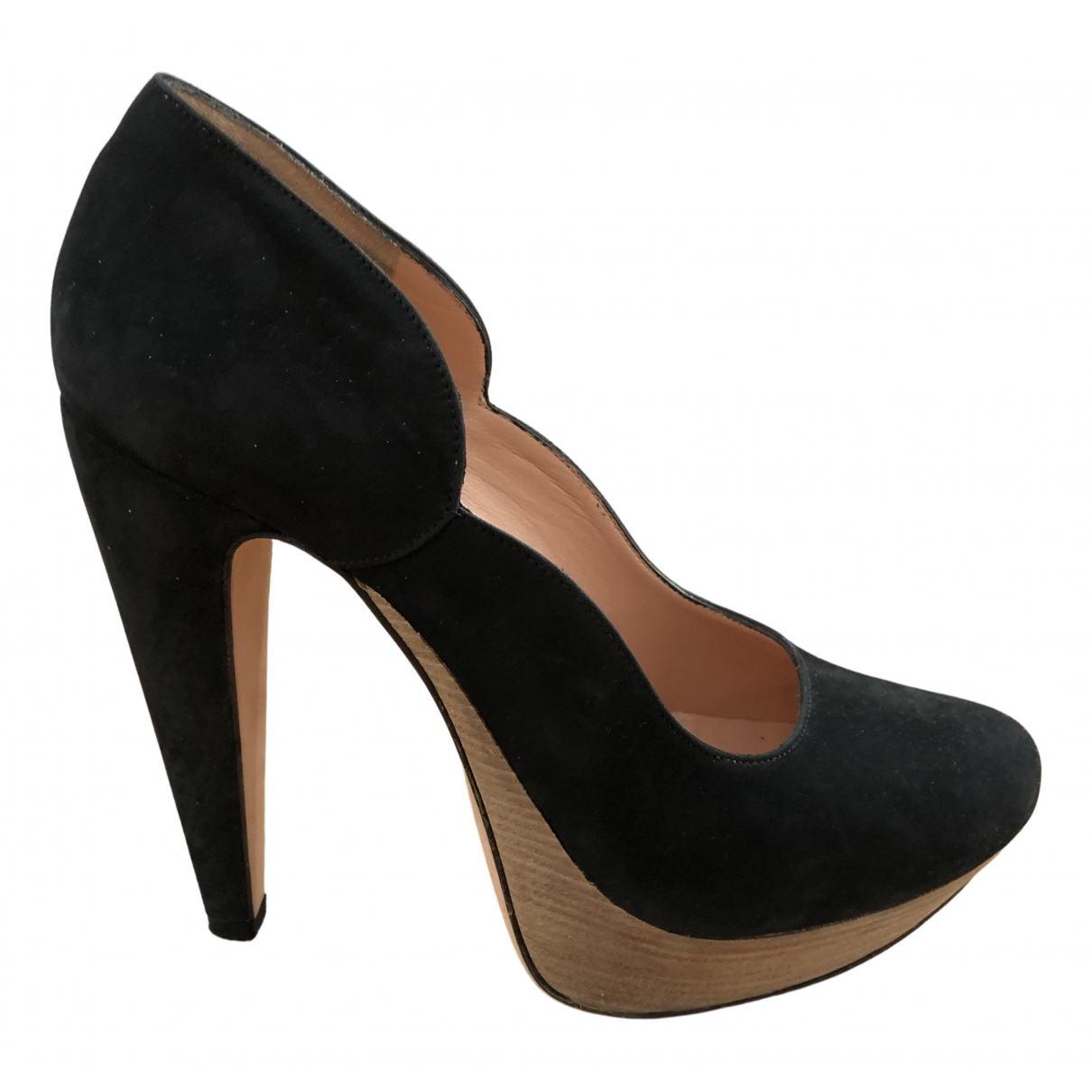 Roland Mouret \N Pumps in  Schwarz Veloursleder