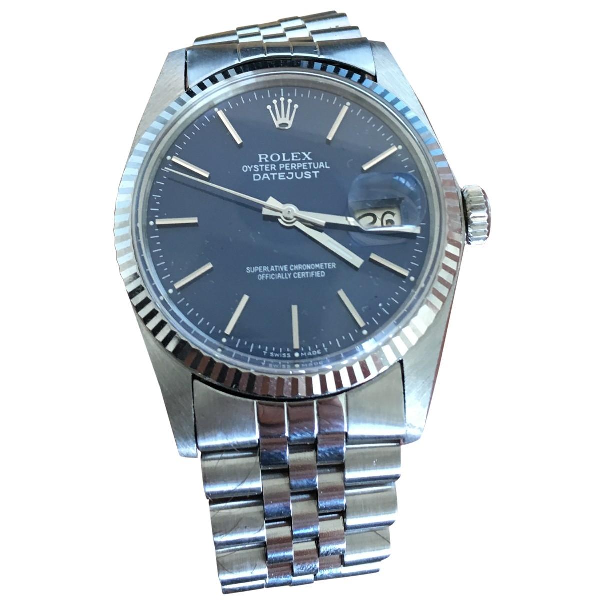 Rolex Datejust 36mm Uhr in  Blau Stahl