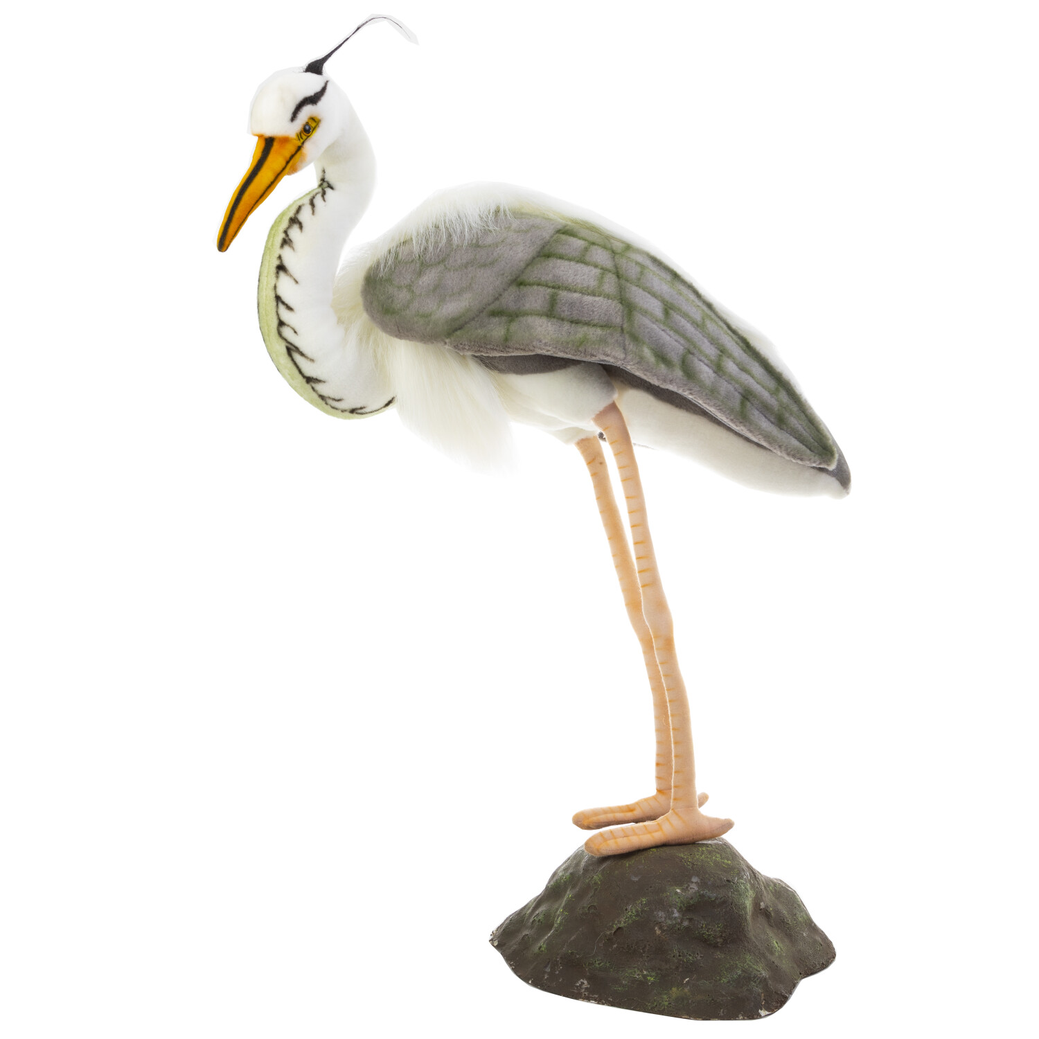 Hansa Blue Heron with Stand Portraits of Nature Collection