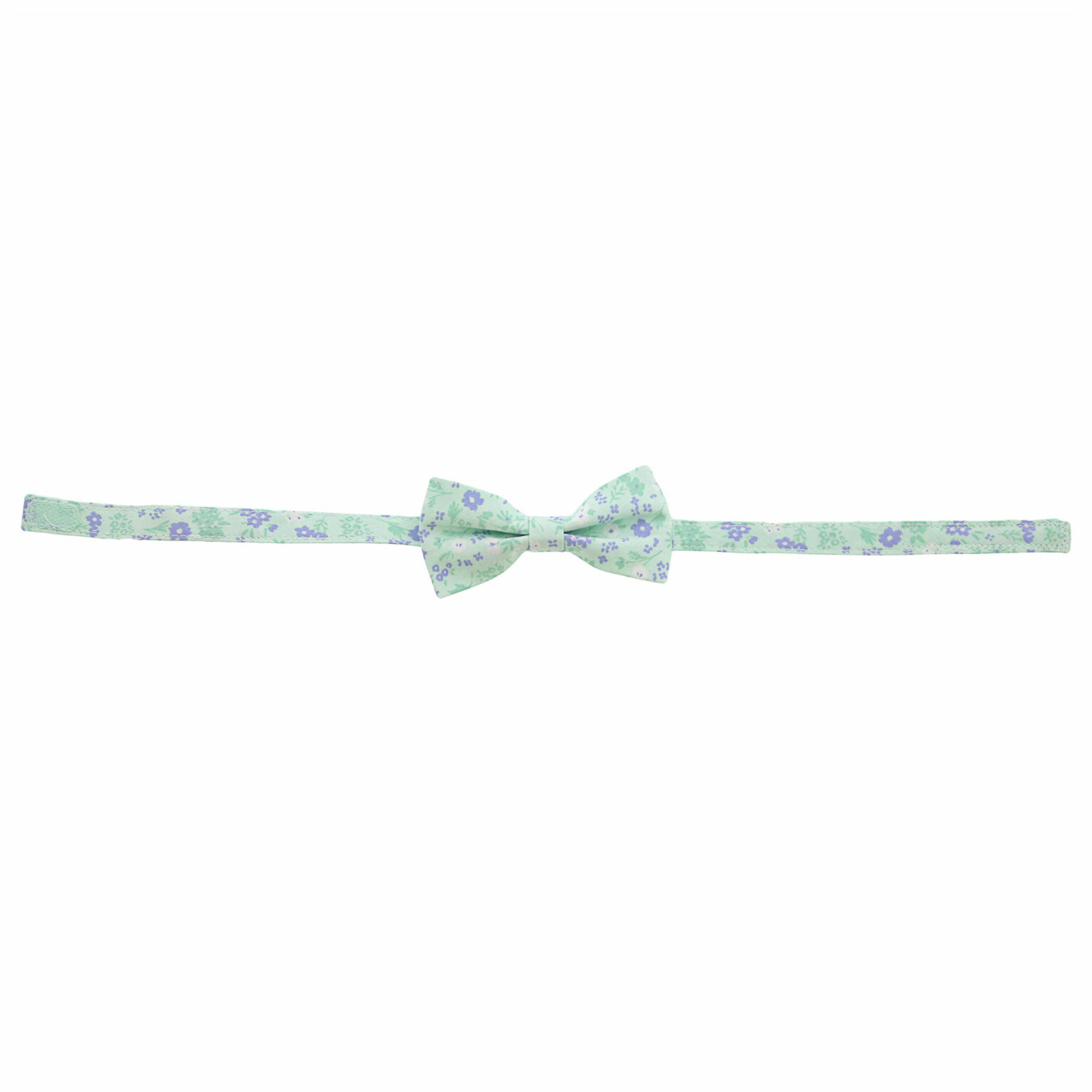 Janie And Jack Fresh Mint Ditsy Floral Bowtie Bow Ty - 2-5